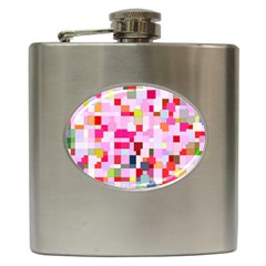 The Framework Paintings Square Hip Flask (6 Oz)