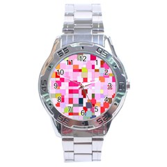 The Framework Paintings Square Stainless Steel Analogue Watch by Pakrebo