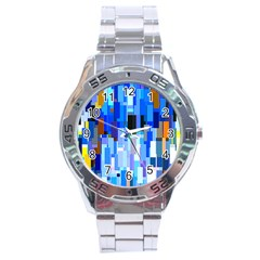 Color Colors Abstract Colorful Stainless Steel Analogue Watch by Pakrebo