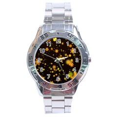Background Black Blur Colorful Stainless Steel Analogue Watch by Pakrebo