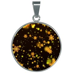 Background Black Blur Colorful 30mm Round Necklace by Pakrebo