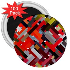 Maze Mazes Fabric Fabrics Color 3  Magnets (100 Pack) by Pakrebo