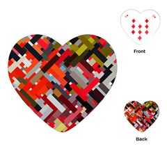 Maze Mazes Fabric Fabrics Color Playing Cards (heart)