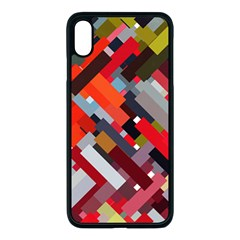 Maze Mazes Fabric Fabrics Color Apple Iphone Xs Max Seamless Case (black)