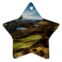 Landscape Quairaing Scotland Ornament (star) by Pakrebo