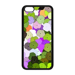 Art Flower Flowers Fabric Fabrics Apple Iphone 5c Seamless Case (black) by Pakrebo