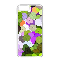 Art Flower Flowers Fabric Fabrics Apple Iphone 7 Plus Seamless Case (white)