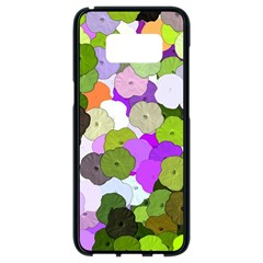 Art Flower Flowers Fabric Fabrics Samsung Galaxy S8 Black Seamless Case by Pakrebo