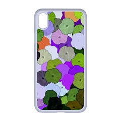 Art Flower Flowers Fabric Fabrics Apple Iphone Xr Seamless Case (white)