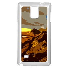 Scotland Monti Mountains Mountain Samsung Galaxy Note 4 Case (white)