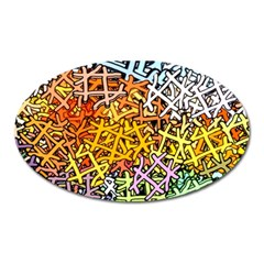 Color Colors Network Networks Oval Magnet by Pakrebo
