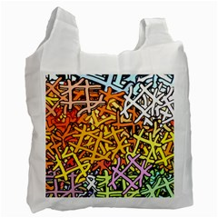 Color Colors Network Networks Recycle Bag (two Side)
