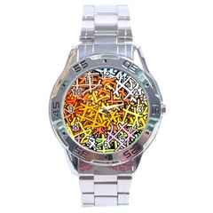 Color Colors Network Networks Stainless Steel Analogue Watch