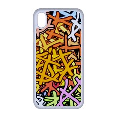 Color Colors Network Networks Apple Iphone Xr Seamless Case (white)