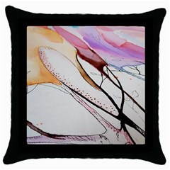 Art Painting Abstract Canvas Throw Pillow Case (black) by Pakrebo