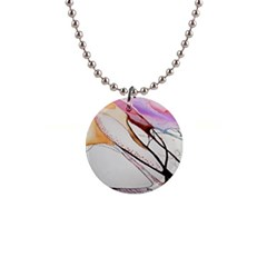 Art Painting Abstract Canvas 1  Button Necklace