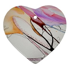 Art Painting Abstract Canvas Heart Ornament (two Sides) by Pakrebo