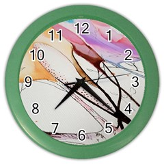 Art Painting Abstract Canvas Color Wall Clock by Pakrebo