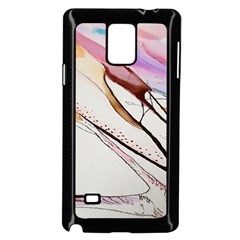 Art Painting Abstract Canvas Samsung Galaxy Note 4 Case (black)
