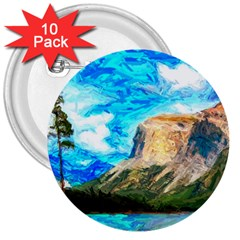 Painting Paintings Mountain 3  Buttons (10 Pack)  by Pakrebo
