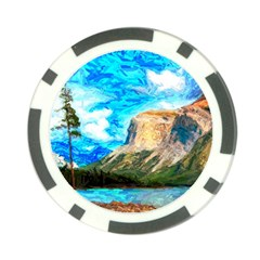 Painting Paintings Mountain Poker Chip Card Guard by Pakrebo