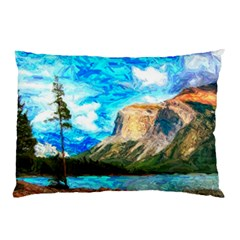 Painting Paintings Mountain Pillow Case (two Sides)
