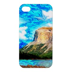 Painting Paintings Mountain Apple Iphone 4/4s Hardshell Case