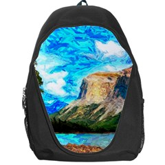 Painting Paintings Mountain Backpack Bag by Pakrebo