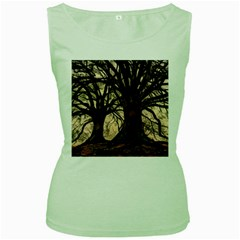 Ent Treant Trees Tree Bark Barks Women s Green Tank Top by Pakrebo