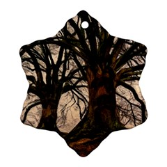 Ent Treant Trees Tree Bark Barks Snowflake Ornament (two Sides)