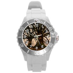 Ent Treant Trees Tree Bark Barks Round Plastic Sport Watch (l) by Pakrebo