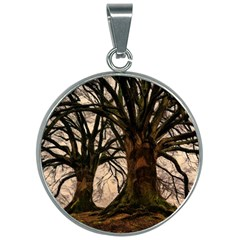 Ent Treant Trees Tree Bark Barks 30mm Round Necklace