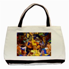 Texture Painting Plot Graffiti Basic Tote Bag by Pakrebo