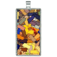 Texture Painting Plot Graffiti Rectangle Necklace