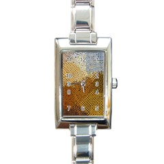 Color Colors Abstract Yellow Brown Rectangle Italian Charm Watch
