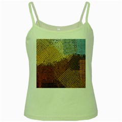 Color Colors Abstract Yellow Brown Green Spaghetti Tank