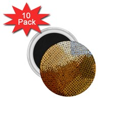 Color Colors Abstract Yellow Brown 1 75  Magnets (10 Pack)