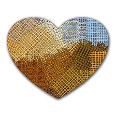 Color Colors Abstract Yellow Brown Heart Mousepads