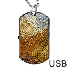 Color Colors Abstract Yellow Brown Dog Tag Usb Flash (two Sides) by Pakrebo
