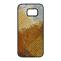 Color Colors Abstract Yellow Brown Samsung Galaxy S7 Edge Black Seamless Case