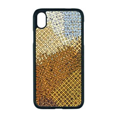 Color Colors Abstract Yellow Brown Apple Iphone Xr Seamless Case (black)