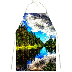 Color Lake Mountain Painting Full Print Aprons