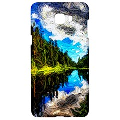 Color Lake Mountain Painting Samsung C9 Pro Hardshell Case