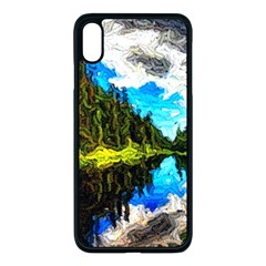 Color Lake Mountain Painting Apple Iphone Xs Max Seamless Case (black)