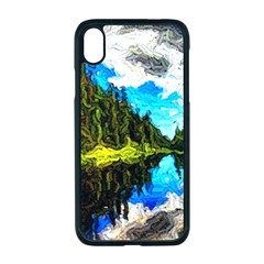 Color Lake Mountain Painting Apple Iphone Xr Seamless Case (black)