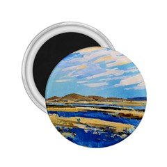 The Landscape Water Blue Painting 2 25  Magnets