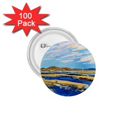 The Landscape Water Blue Painting 1 75  Buttons (100 Pack)