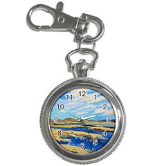 The Landscape Water Blue Painting Key Chain Watches