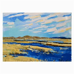 The Landscape Water Blue Painting Large Glasses Cloth