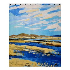 The Landscape Water Blue Painting Shower Curtain 60  X 72  (medium)
